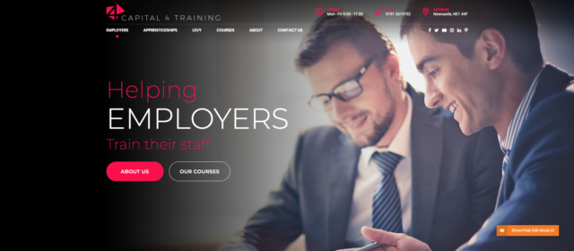 New Capital 4 Training Website 2