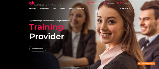 New Capital 4 Training Website 1